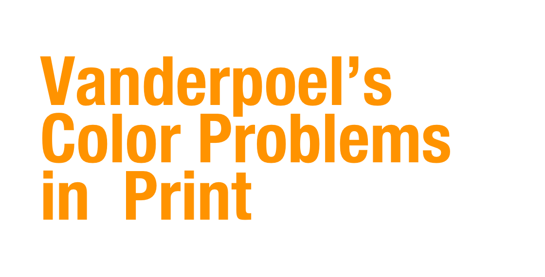Vanderpoel's Color Problems in  Print